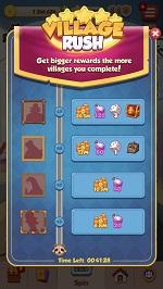 Village Rush corta en dados el amo de la mascota