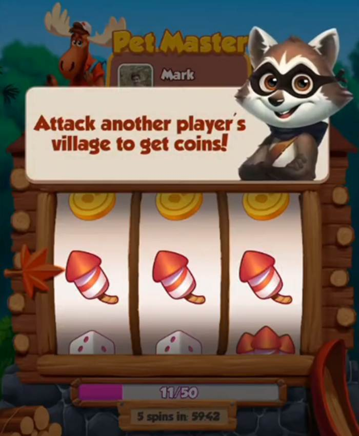 Earn Coins when you attack in Pet Master