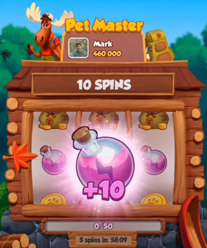 How to get Free Spins and Coins in Pet Master